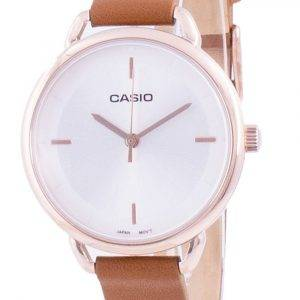 Casio hopea soittaa nahkahihna kvartsi LTP-E413PL-7A LTPE413PL-7A naisten kello