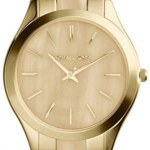 Michael Kors Runway Gold Tone Horn Dial MK4285 Women's Watch
