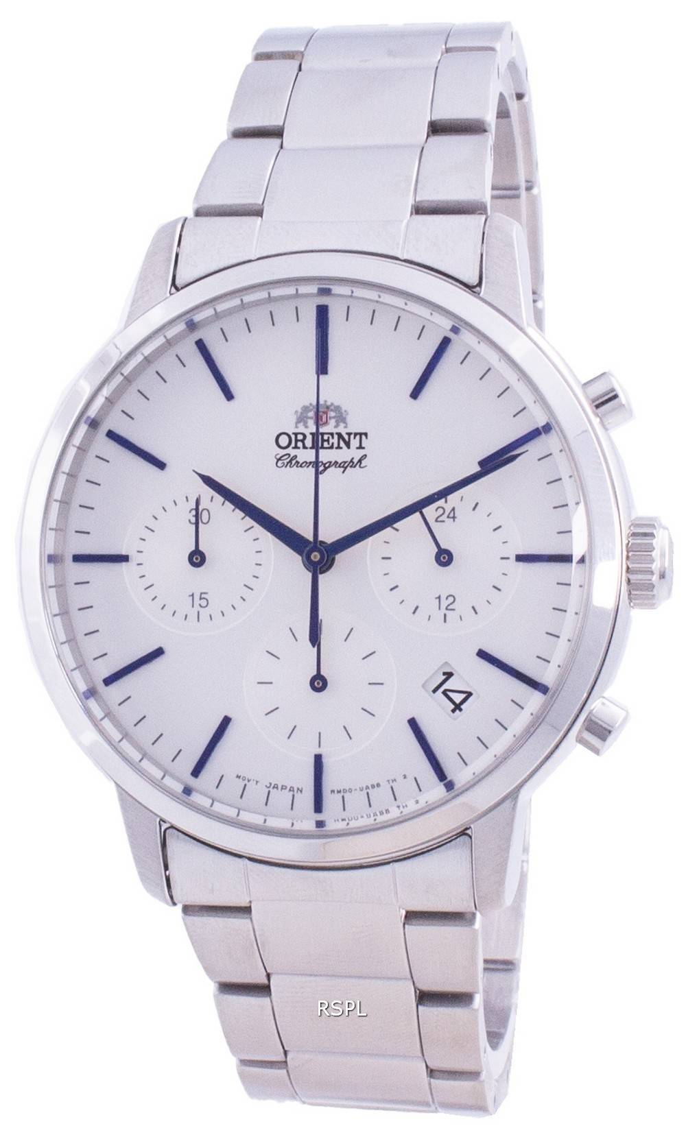 Orient Contemporary Chronograph White Dial Quartz RA-KV0302S10B Men's Watch