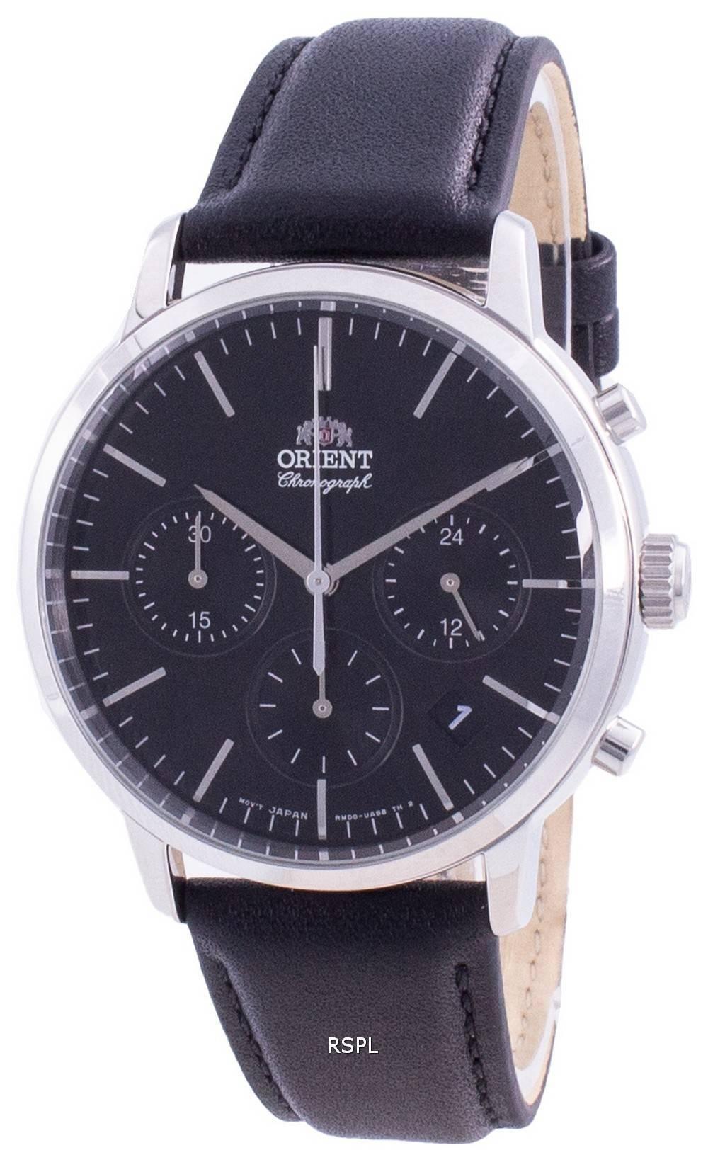 Orient Contemporary Chronograph Black Dial Quartz RA-KV0303B10B Men's Watch