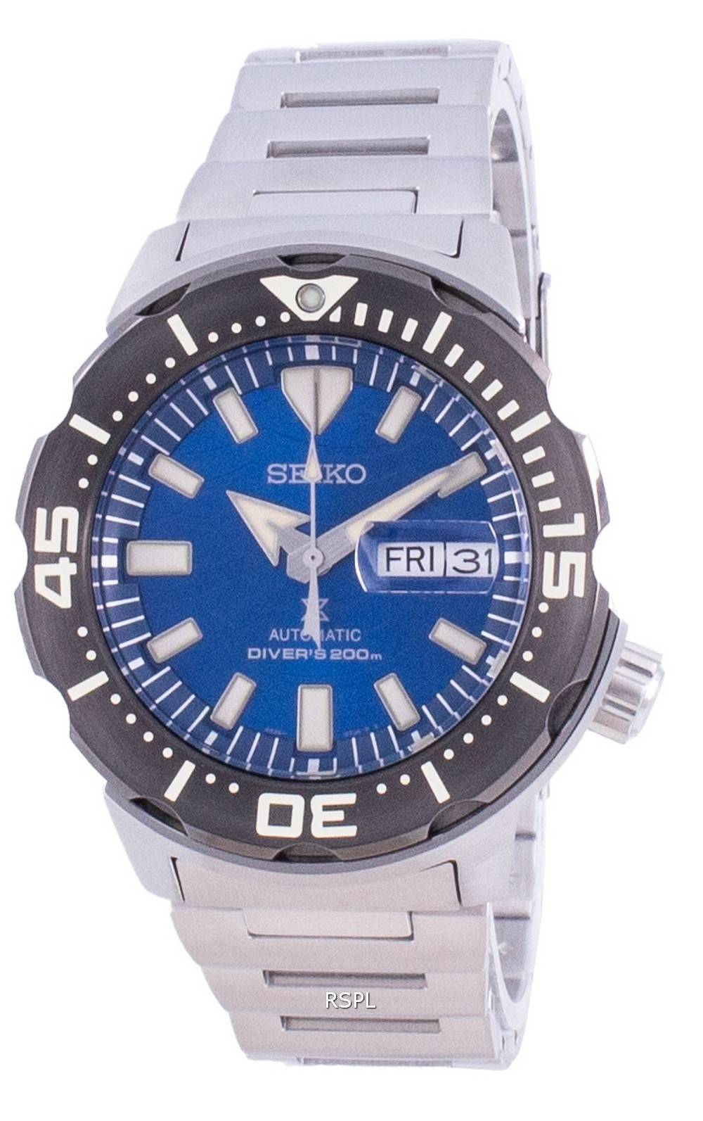 Seiko Prospex Save The Ocean Special Edition Diver automaattinen SRPE09 SRPE09K1 SRPE09K 200M miesten kello