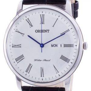 Orient White Dial Black Leather Quartz SUG1R009W6 Mens Watch