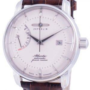 Zeppelin Atlantik White Dial Leather Strap Automatic 8462-5 84625 Men's Watch