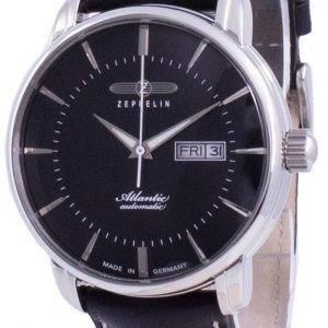 Zeppelin Atlantik Black Dial Leather Strap Automatic 8466-2 84662 Men's Watch