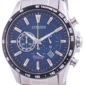 Citizen Eco-Drive Super Titanium Tachymeter CA4444-82L 100M Men's Watch