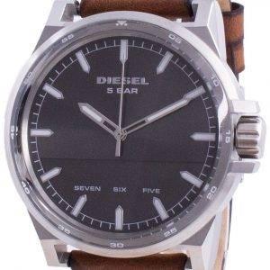 Diesel D-48 Grey Dial Leather Strap Quartz DZ1910 Men's Watch