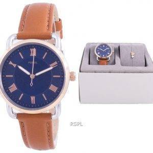 Fossil Copeland Blue Dial Quartz ES4913SET With Gift Set Women's Watch