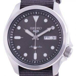 Seiko 5 Sports Grey Dial Nylon Strap Automatic SRPE61 SRPE61K1 SRPE61K 100M Men's Watch