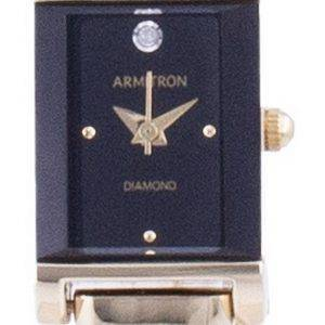 Armitron Black Dial Diamond aksentti kvartsi 755322BKGP naisten kello