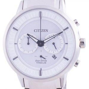 Citizen Super Titanium White Dial Eco Drive CA4400-88A 100M miesten kello
