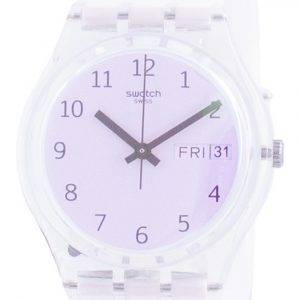 Swatch Ultrarose White Dial silikonihihna kvartsi GE714 miesten kello