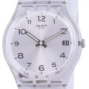 Swatch Silverblush Silver Dial silikonihihna kvartsi GM416C miesten kello