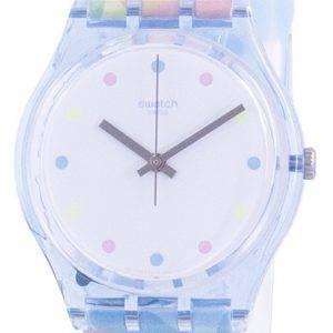 Swatch Bordujas valkoinen rengas silikonihihna kvartsi GS159 naisten kello