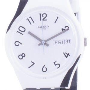 Swatch Greytwist White Dial silikonihihna kvartsi GW711 miesten kello