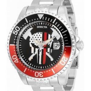Invicta Pro Diver Skull Black Dial Automatic 31929 300M miesten kello