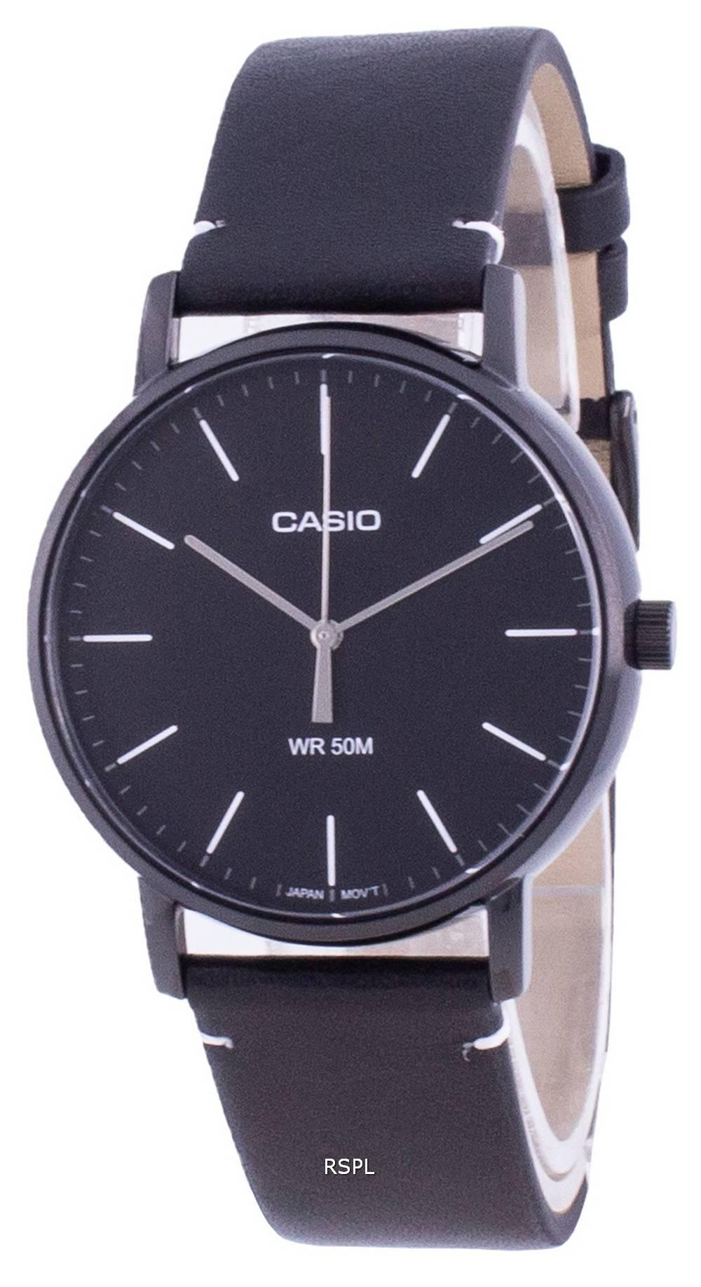 Casio Musta soittaa kvartsi MTP-E171BL-1E MTPE171BL-1 miesten kello