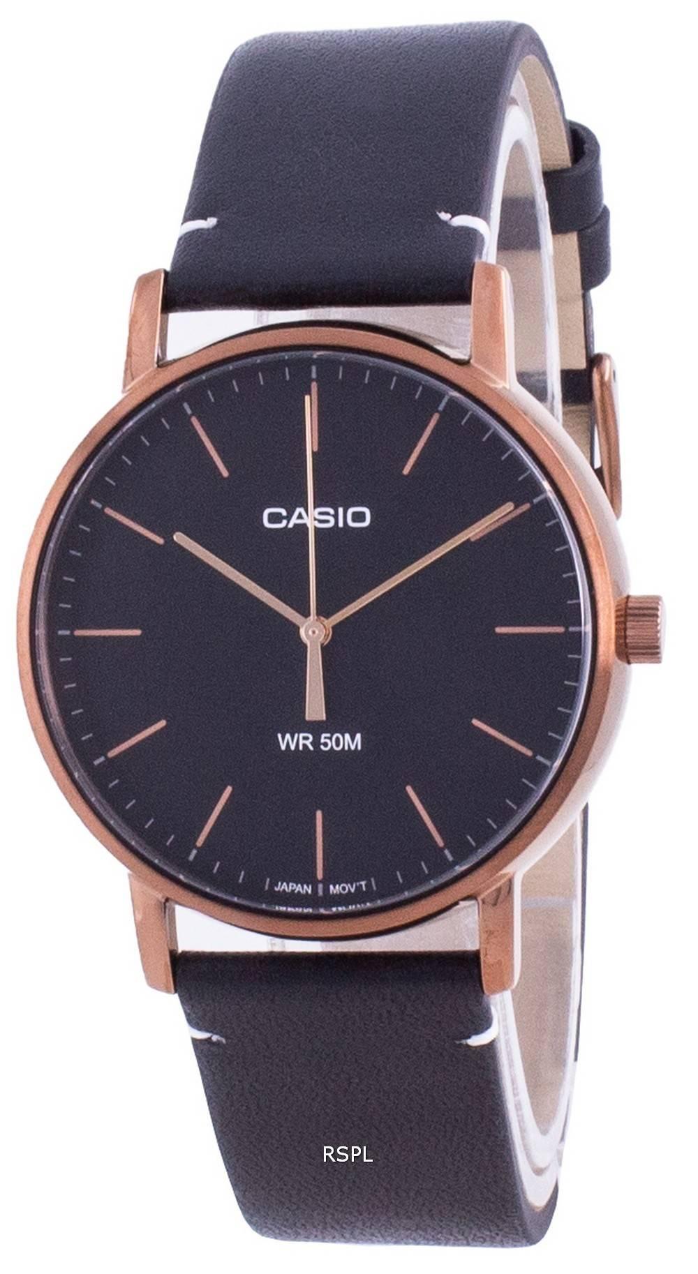 Casio Musta soittaa kvartsi MTP-E171RL-1E MTPE171RL-1 miesten kello