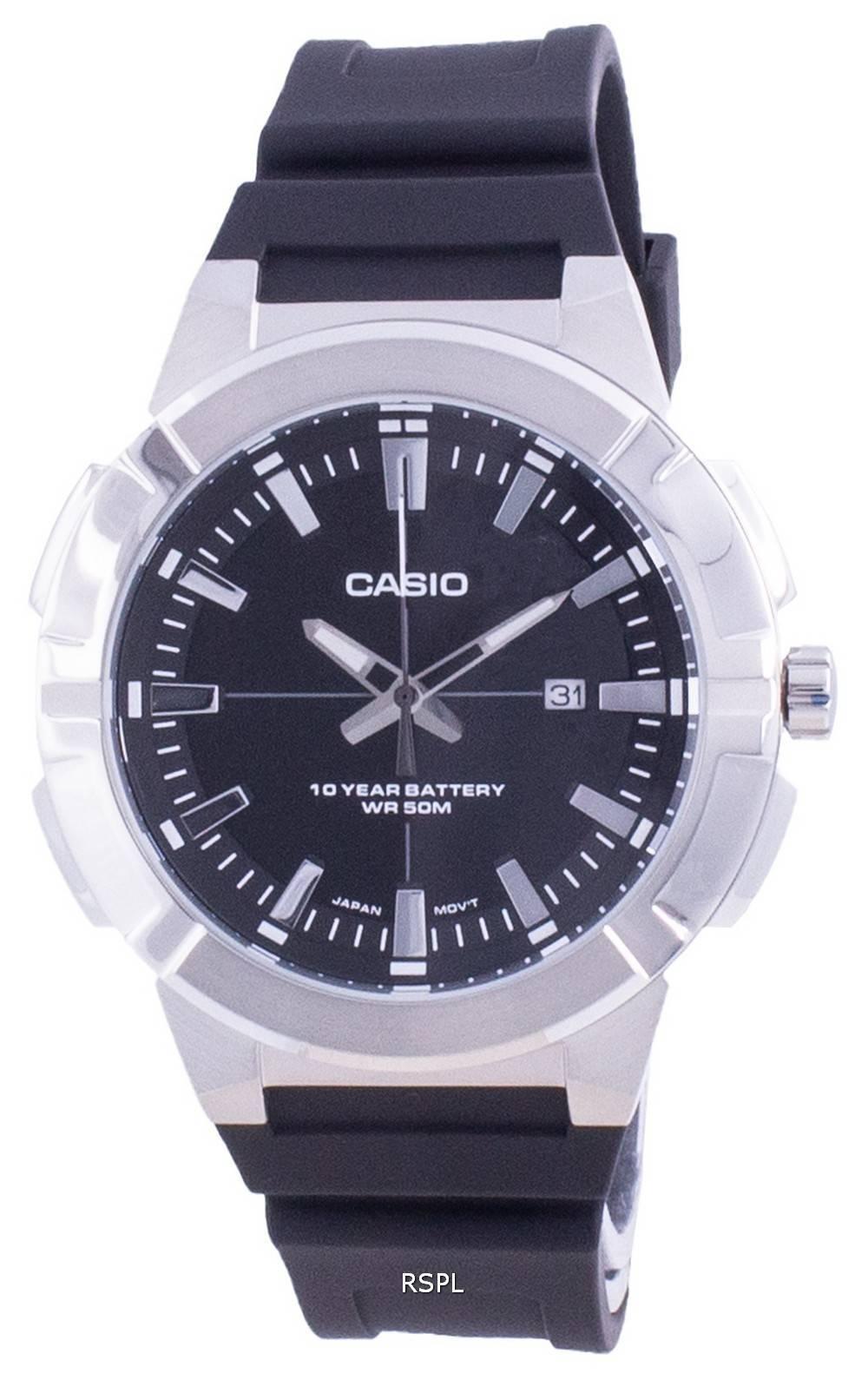Casio analoginen musta soittaa hartsihihna MTP-E172-1A MTPE172-1 miesten kello