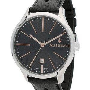 Maserati Attrazione musta soittaa kvartsi R8851126003 100M miesten kello