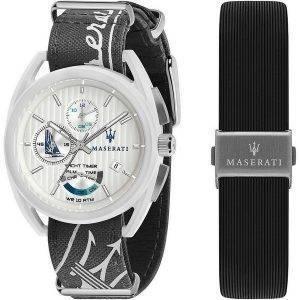 Maserati Trimarano Yacht Timer Chronograph Quartz R8851132002 100M miesten kello