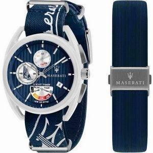 Maserati Trimarano Yacht Timer Chronograph Quartz R8851132003 100M miesten kello