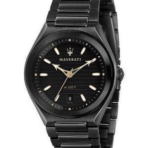 Maserati Triconic Black Dial Quartz R8853139004 100M miesten kello