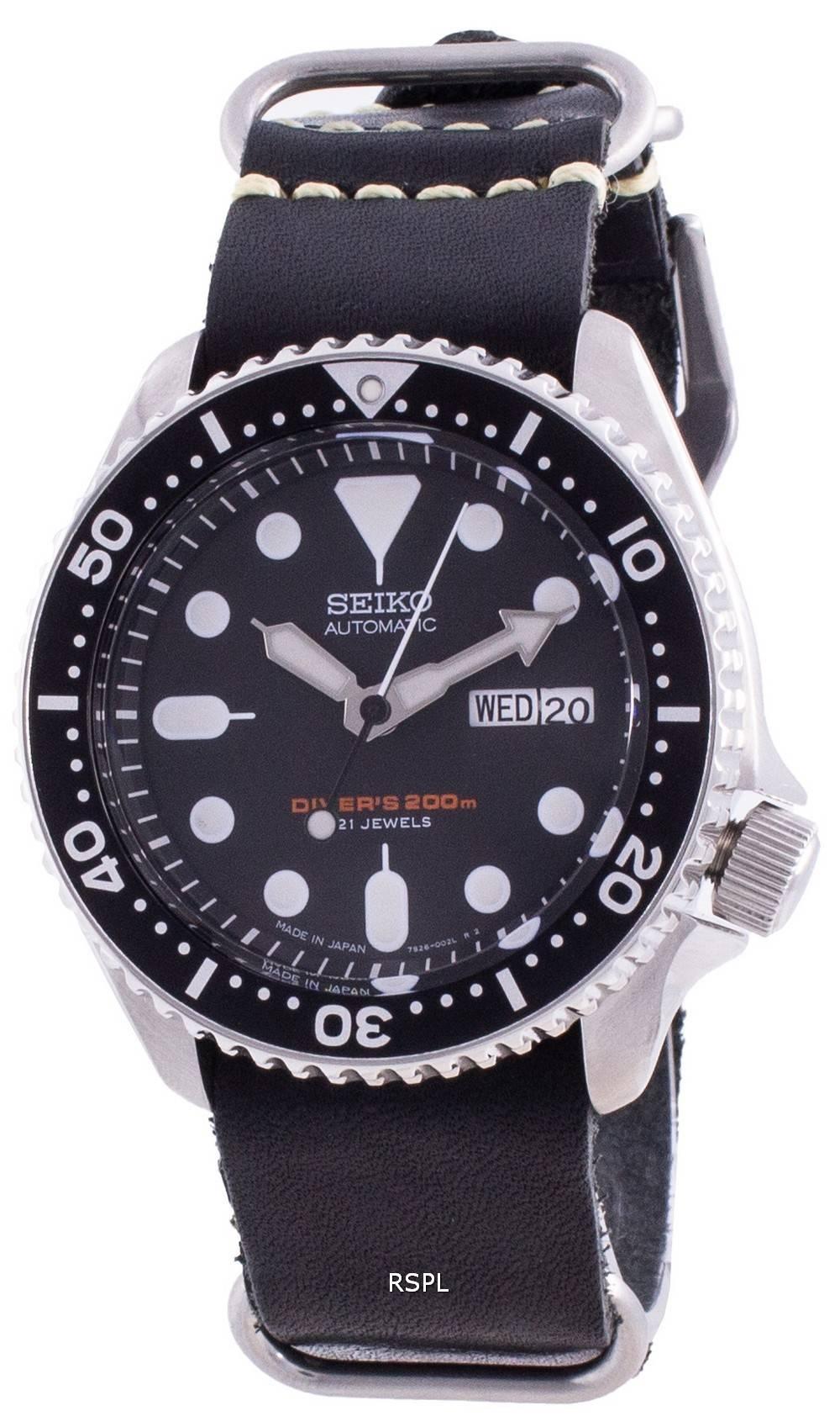 Seiko Automatic Diver&#39,s SKX007J1-var-LS19 200M Japan Made Miesten kello