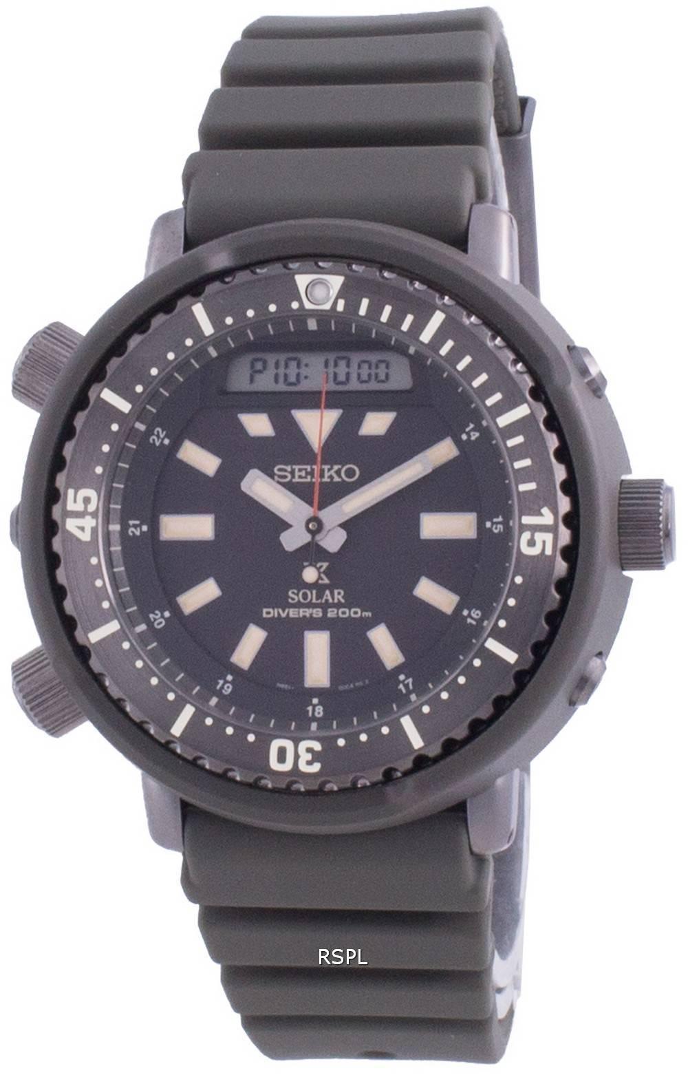Seiko Prospex Street Series Diver&#39,s Solar SNJ031 SNJ031P1 SNJ031P 200M miesten kello