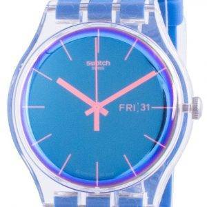 Swatch Polablue sininen soittaa silikoni hihna kvartsi SUOK711 miesten kello
