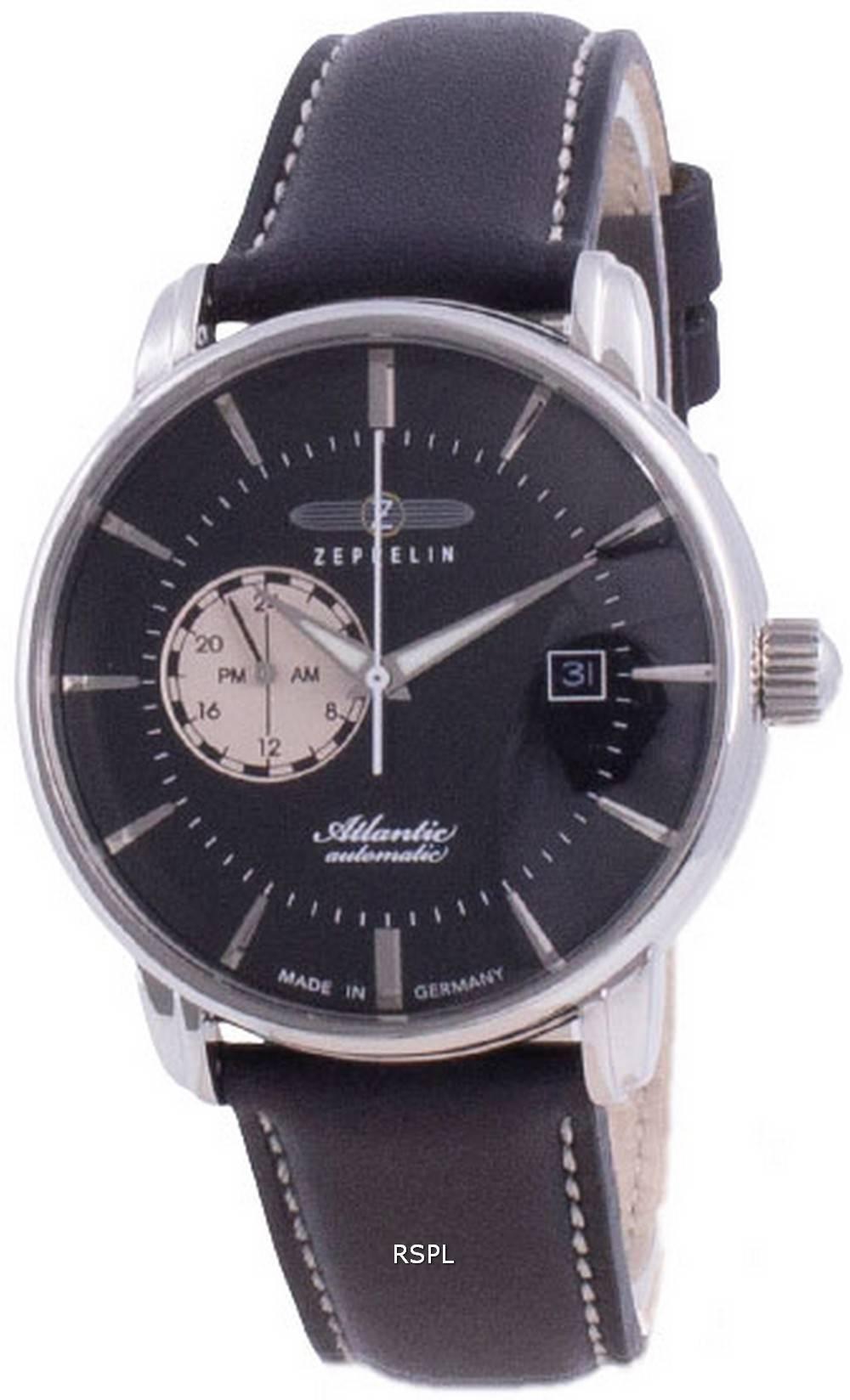 Zeppelin Atlantic Black Dial Automatic 8470-2 84702 miesten kello