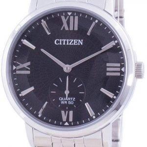 Citizen musta kellotaulu ruostumattomasta teräksestä valmistettu kvartsi BE9170-72E miesten kello