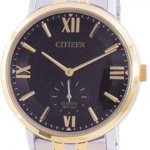 Citizen musta kellotaulu ruostumattomasta teräksestä valmistettu kvartsi BE9176-76E miesten kello