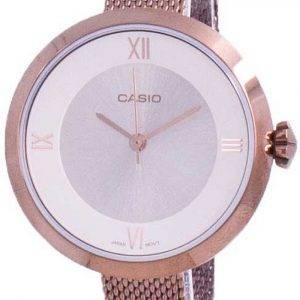 Casio analoginen hopea soittaa LTP-E154MR-9A LTPE154MR-9A naisten kello