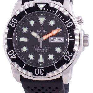 Suhdevapaa Diver Helium-Safe 1000M Sapphire Automaattinen 1068HA90-34VA-BLK miesten kello