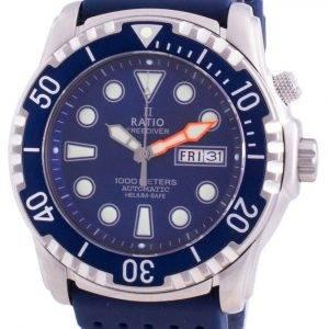 Suhdevapaa Diver Helium-Safe 1000M Sapphire Automaattinen 1068HA90-34VA-BLU miesten kello