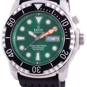 Suhdevapaa Diver Helium-Safe 1000M Sapphire Automaattinen 1068HA90-34VA-GRN miesten kello