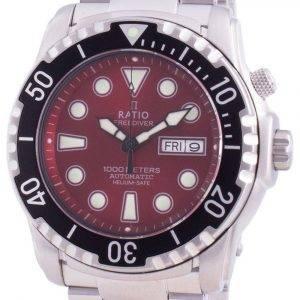 Suhdevapaa Diver Helium-Safe 1000M Sapphire Automaattinen 1068HA96-34VA-RED miesten kello