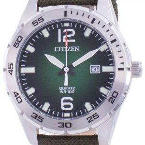 Citizen Green Dial Nylon Strap Quartz BI1041-06X 100M Herreur