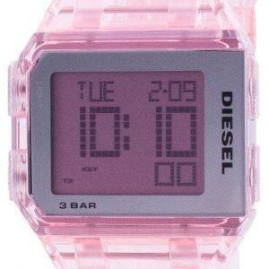 Diesel pilkottu vuosituhannen vaaleanpunainen läpinäkyvä kvartsi DZ1920 unisex-kello