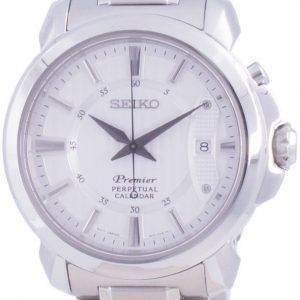 Seiko Premier Perpetual Calendar Quartz SNQ155 SNQ155P1 SNQ155P 100M Herreur