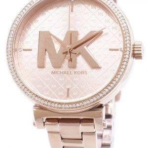 Kunnostettu Michael Kors Sofie Diamond aksentti kvartsi MK4335 naisten kello