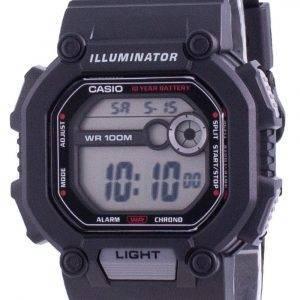 Casio Youth Dual Time Illuminator W-737H-1A W737H-1 100M Herreur