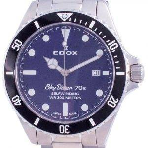 Edox Skydiver Automatic Diver's 801123NMBUI 80112 3NM BUI 300M Men's Watch