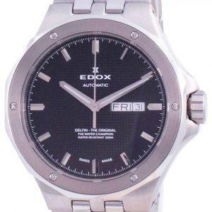 Edox Delfin Day Date Automatic Diver's 880053MNIN 88005 3M NIN 200M Men's Watch