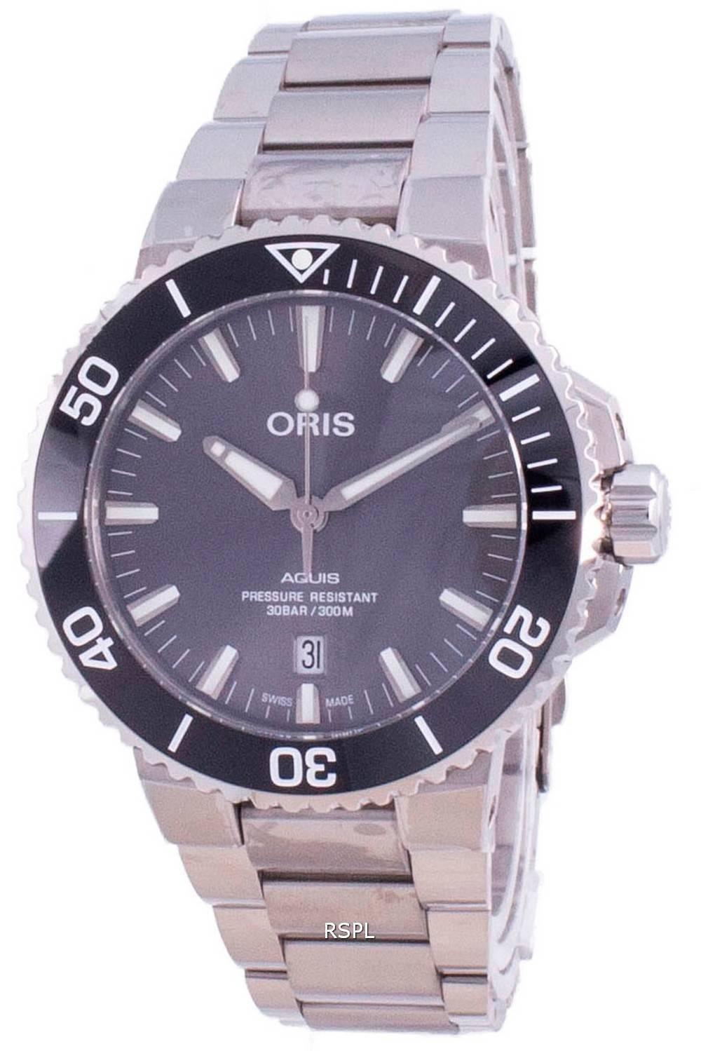 Oris Aquis Date Automatic Diver Titanium 01-733-7730-7153-07-8-24-15PEB 300M Herrenuhr