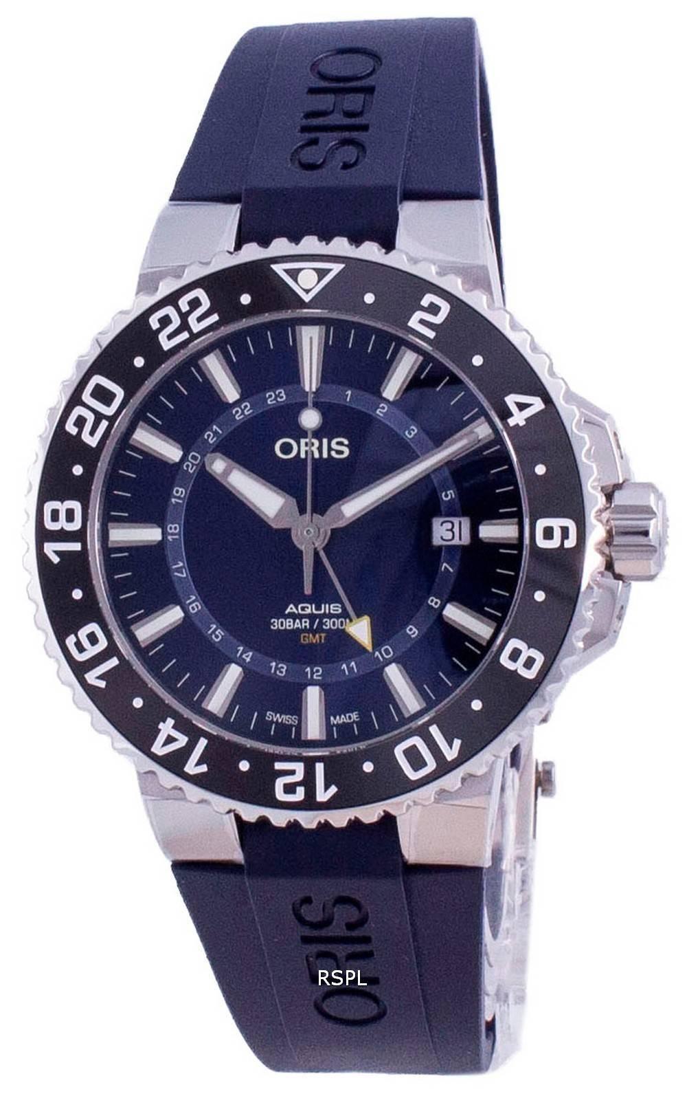 Oris Aquis GMT Datum Automatic Diver&#39,s 01-798-7754-4135-07-4-24-65EB 300M Herrenuhr