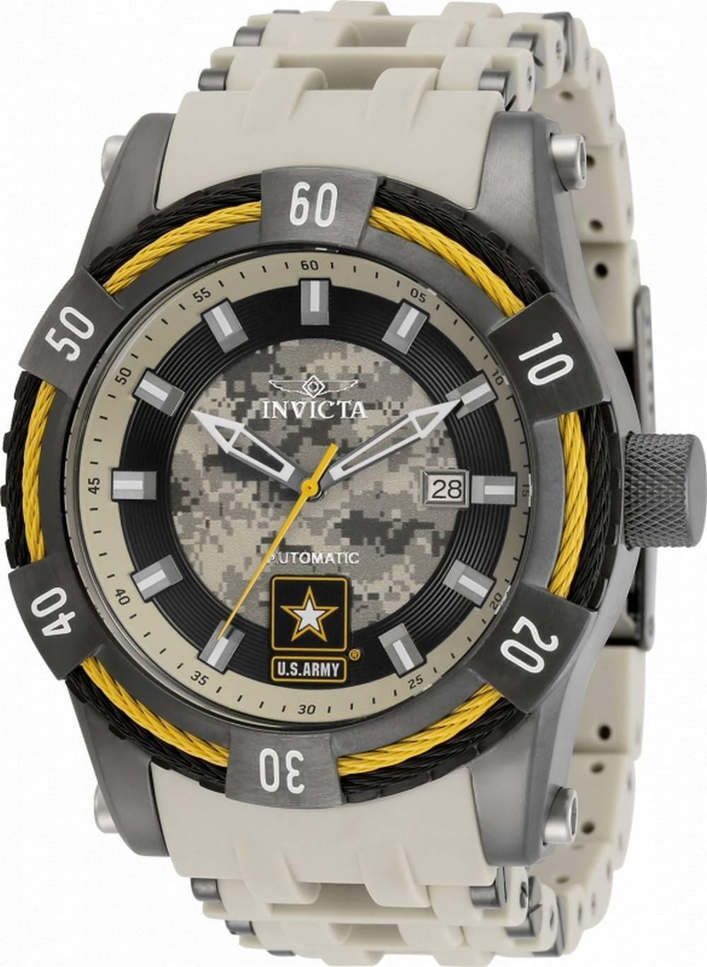 Invicta US Army Tarnzifferblatt Automatik 34108 100M Herrenuhr