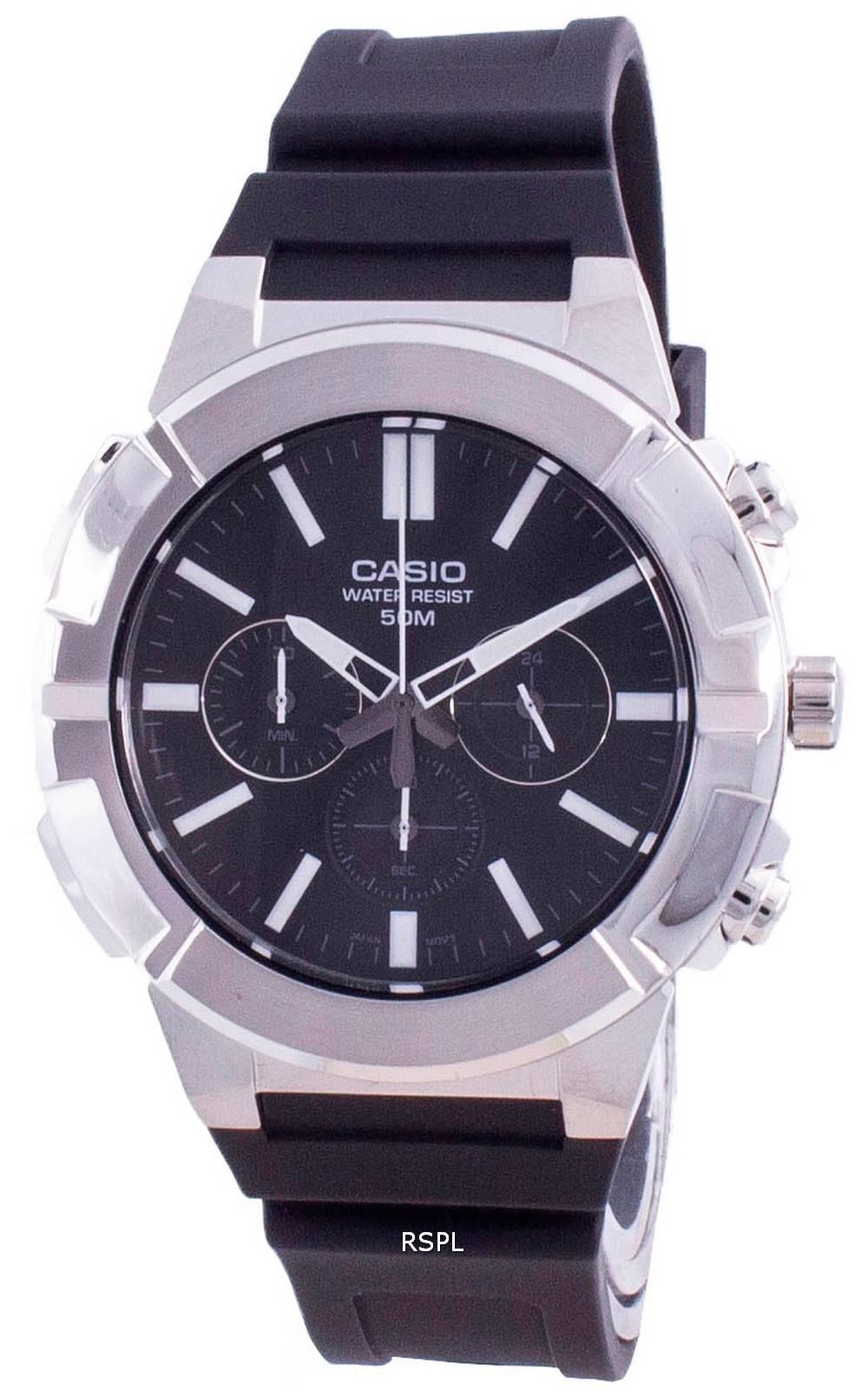 Casio Multi Zeiger Analog Quarz Chronograph MTP-E500-1A MTP-E500-1 Herrenuhr