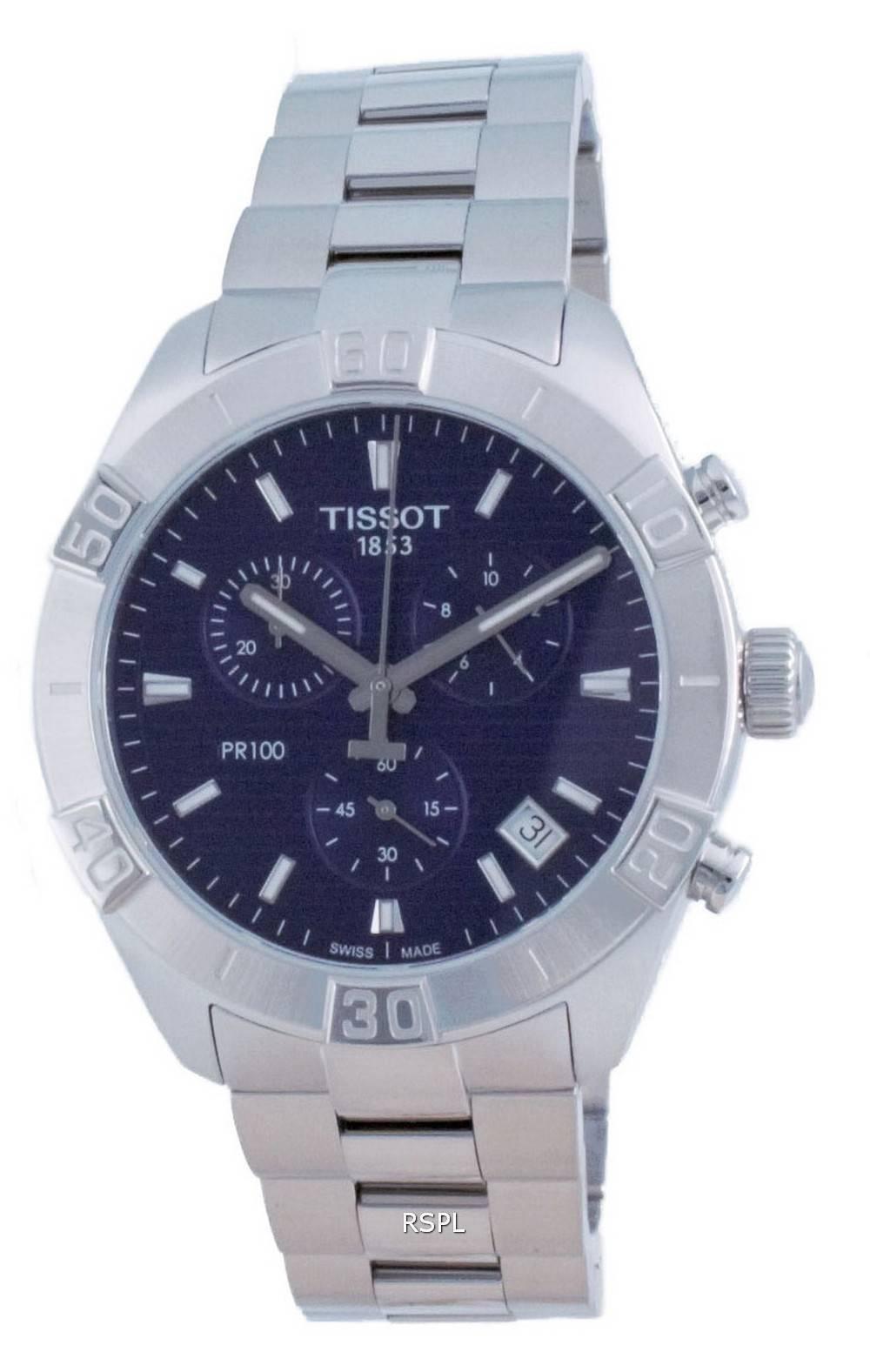 Tissot PR 100 Sport Chronograph Quarz T101.617.11.041.00 T1016171104100 100M Herrenuhr