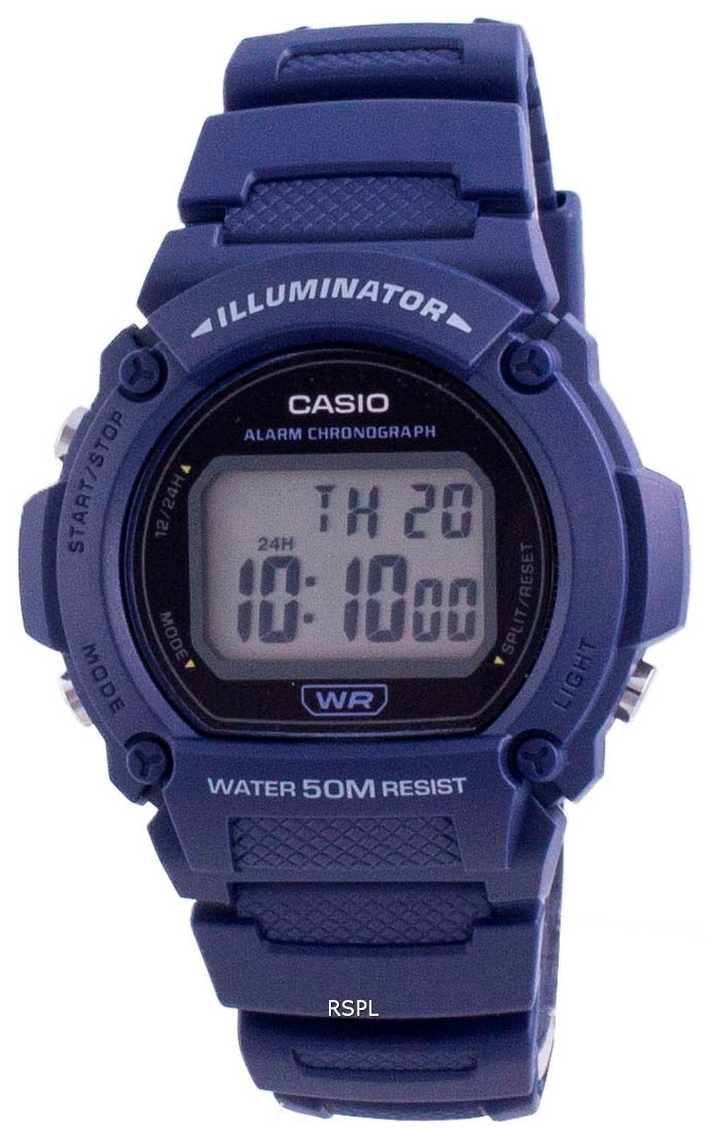 Casio Jugendbeleuchtung Digital W-219H-2A W-219H-2 Herrenuhr
